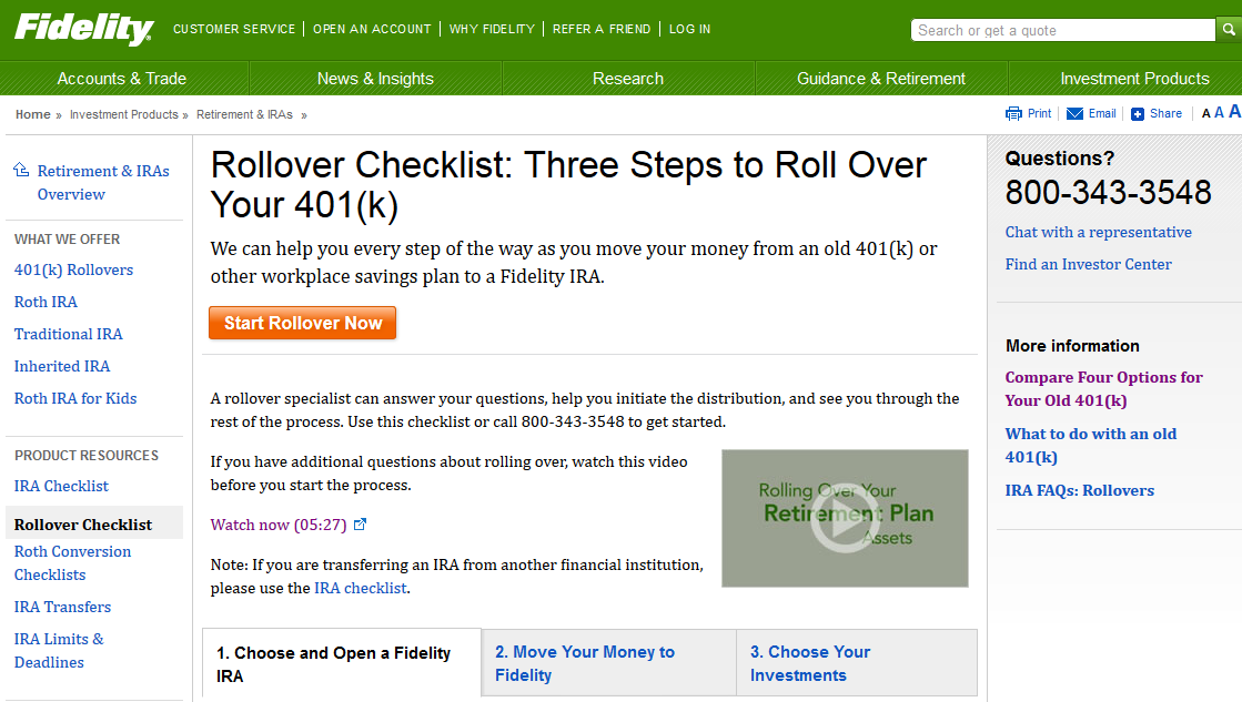 401k Rollover To Fidelity Ira Account Fees Cost Offer 2020